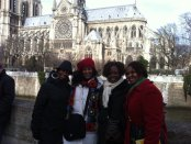AKA's in front of Notre Dame