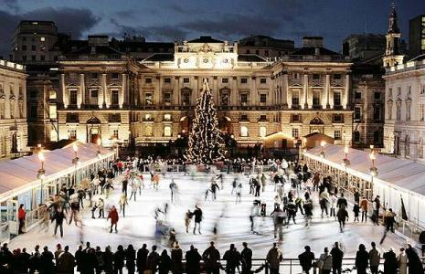 Somerset House Ice Rink (photo credit London Insider)