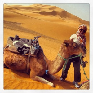 Me & my sweet ride thru the Sahara dunes