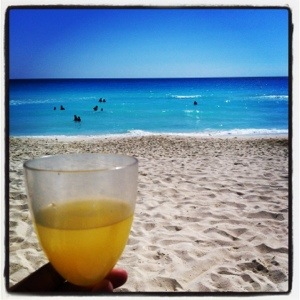 Mimosas on the beach? Yes...please & thank you! (Cancun)