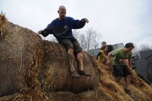 "Obstacle #2, ""Bale Bonds"" (source, Tough Mudder)"