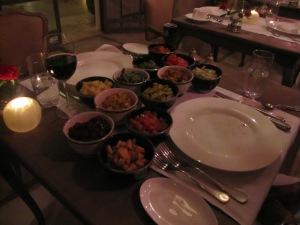 A bountiful dinner