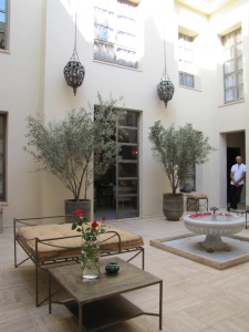 The amazing Riad Joya courtyard