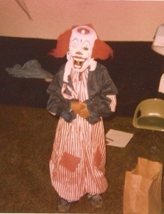My Halloween costume...a blind clown with bad hair.