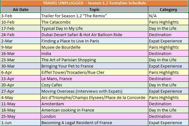 TU 1.2 schedule